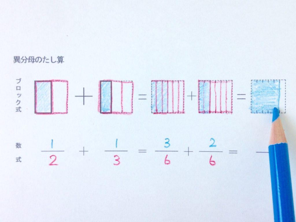図と色で分かる異分母分数たし算_手順3-1