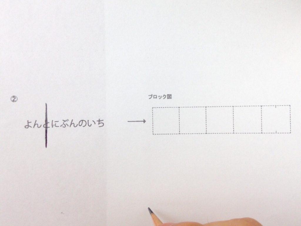 分数のイメージを描く手順1