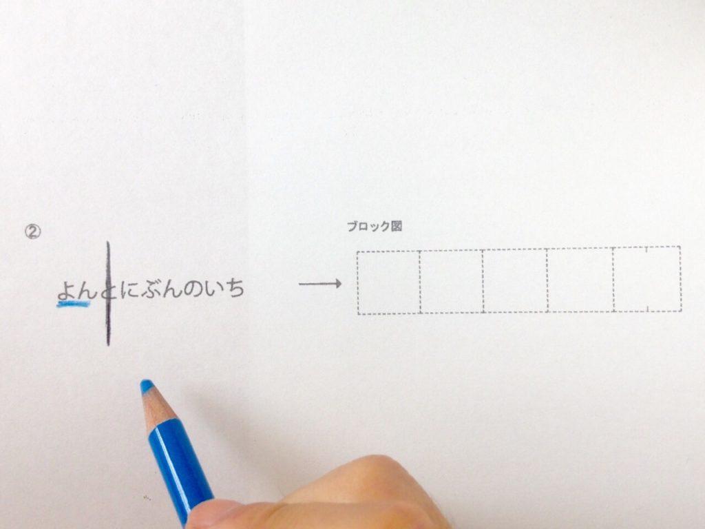 分数のイメージを描く手順2