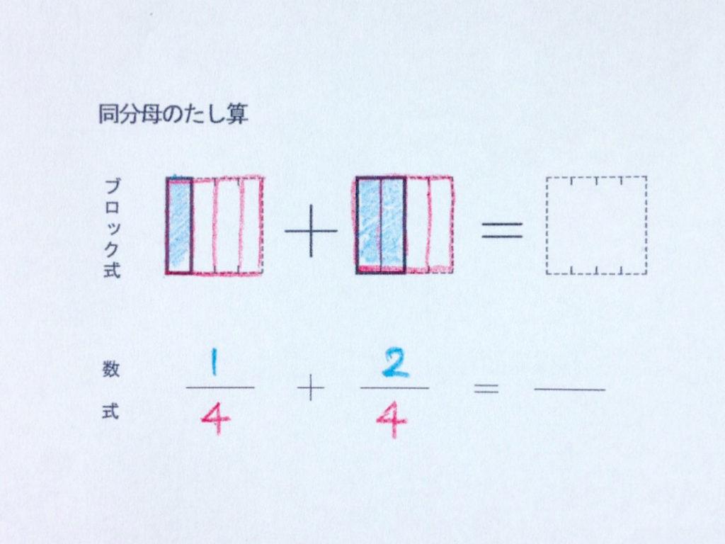 図と色で学ぶ分数のたし算_手順3-1