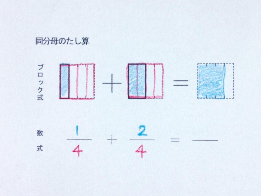 図と色で学ぶ分数のたし算_手順3-2