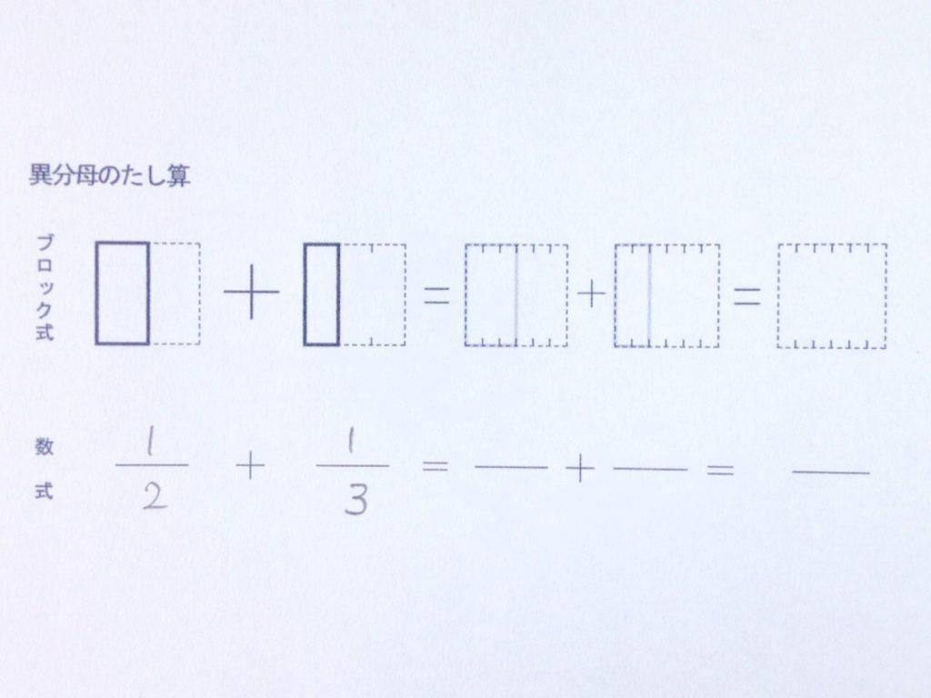 図で分かる異分母分数たし算_手順1