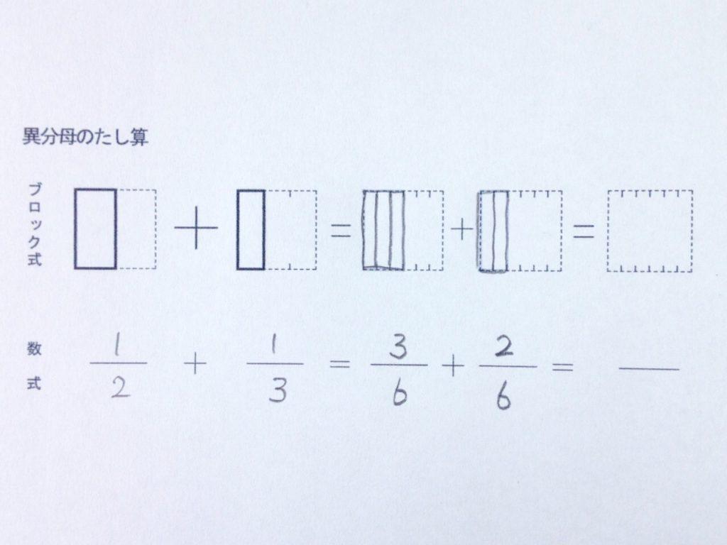 図で分かる異分母分数たし算_手順2