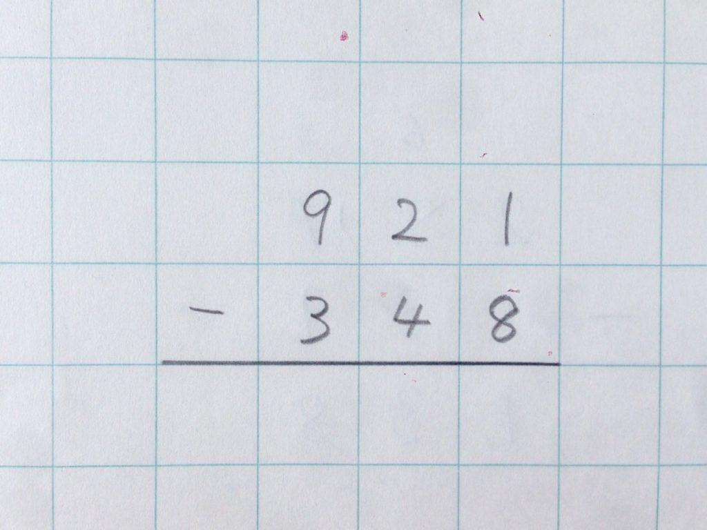 ひき算繰り下がり(2回)手順0