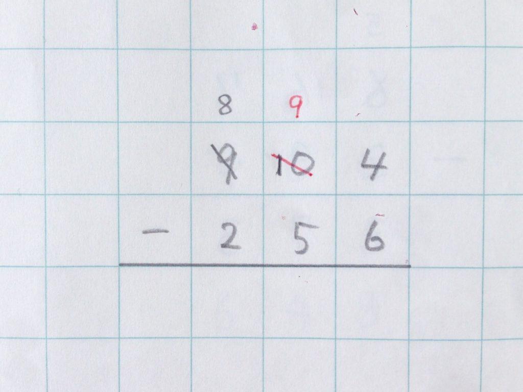 ひき算2段繰り下がり手順3